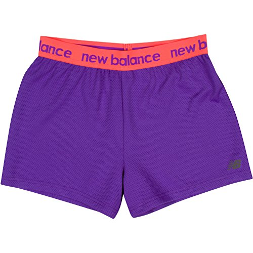 New Balance Big Girls' Athletic Shorts, Violet, (Purple Girls Shorts)
