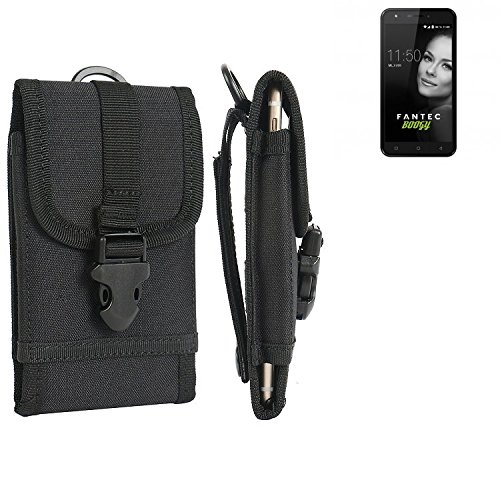 bolsa del cinturón / funda para FANTEC Boogy, negro   caja del teléfono cubierta protectora bolso - K-S-Trade (TM)