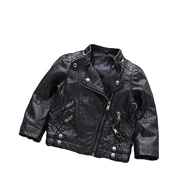 a1b9156c3 Amazon.com  Milkiwai Unisex Little Kids Leather Motorcycle Jacket ...