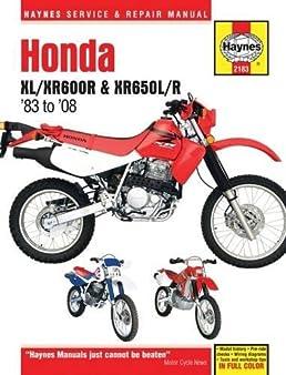 honda xl xr600r xr650l r 1983 to 2014 haynes service repair rh amazon com Honda XR Honda XR 650 Forums