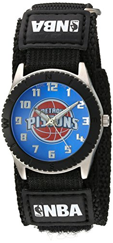 "Game Time Unisex NBA-ROB-DET ""Rookie Black"" Watch - Detroit Pistons"