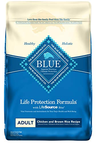 Blue Buffalo Life Protection Formula Adult Dog Food – Natural Dry Dog Food for Adult Dogs – Chicken and Brown Rice – 15 lb. - Sample Dog Foods