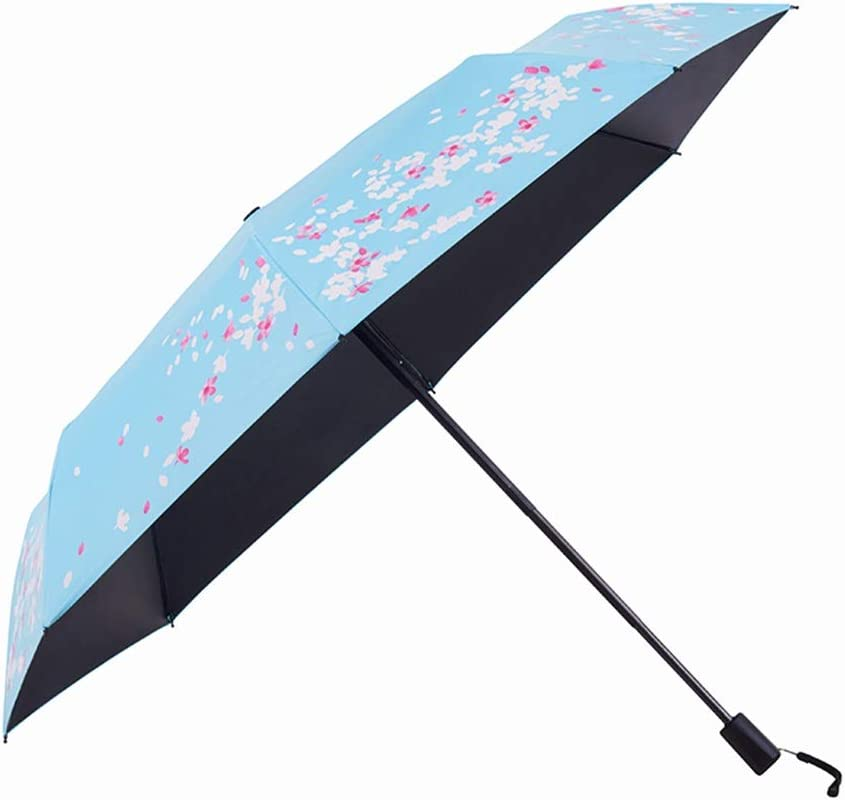 ZHANGAIZHEN Small Fresh Fully Automatic Sunscreen Sun Umbrella Anti-UV Black Glue Simple Color : Manual - Fully Automatic