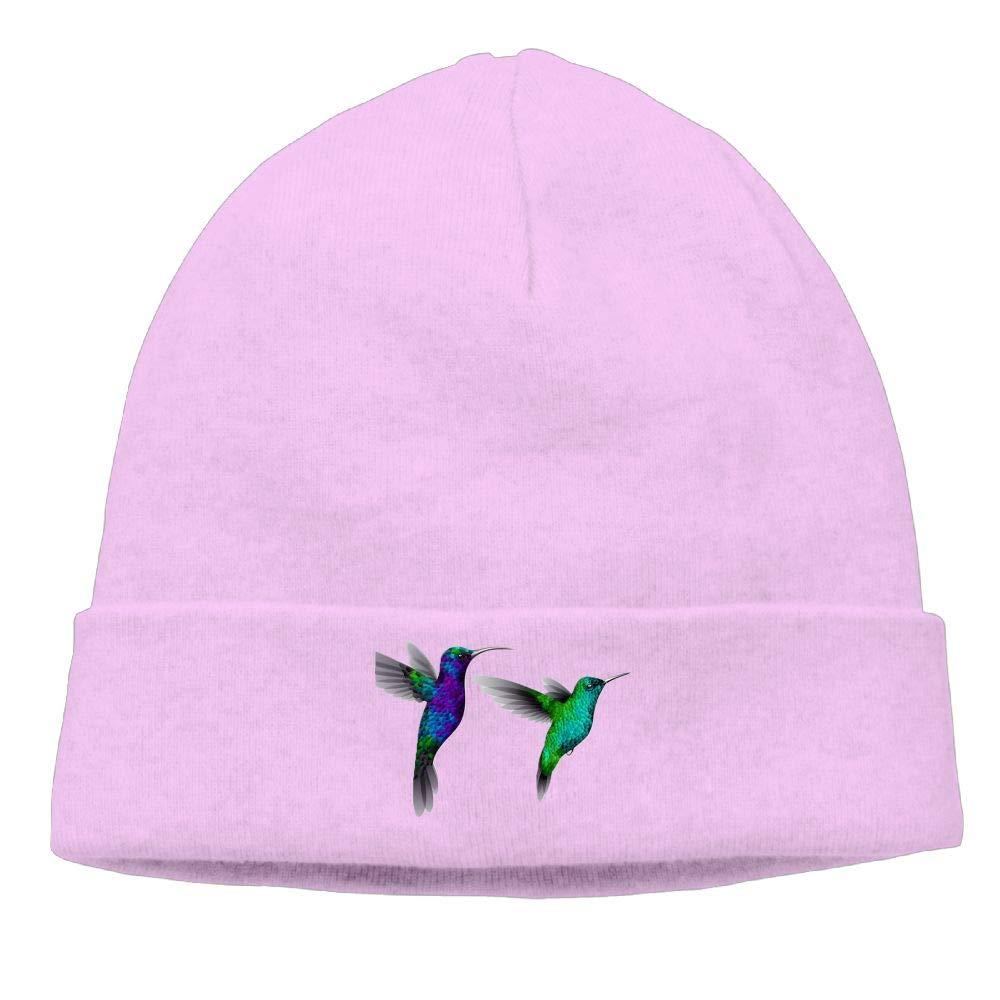 nordic runes Hummingbird Beanie Hat Winter Warm Knit Skull Cap for Mens//Womens