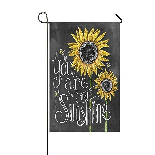 Siwbko You are My Sunshine Sunflower 12X18 inch Garden Flag - Double Sided Holiday Decorative Outdoor House - Flag Garden Ms