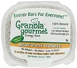 Granola Gourmet Original Energy Bars -Spiced Orange Cranberry, 10-Count 12.5 oz. Bars (Pack of 2)