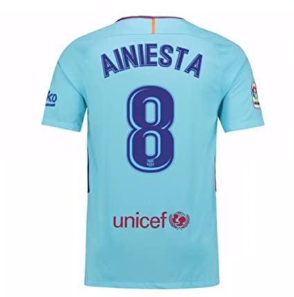Image Unavailable. Image not available for. Color  2017-2018 Barcelona Away  Football Soccer T-Shirt Jersey (Andres Iniesta 8) ac956c06d68