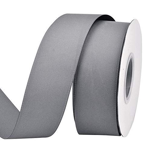 - Ribest 1-1/2 inch 25 Yards Solid Grosgrain Ribbon Per Roll for DIY Hair Accessories Scrapbooking Gift Packaging Party Decoration Wedding Flowers Silver