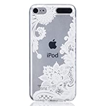 iPod Touch 5 Case, Touch 6 Case, Soft Clear TPU Gel Case Simple Lace Flower Pattern Ultra Slim Flexible Protective Skin Back Cover For iPod Touch 5 5th / 6th Generation