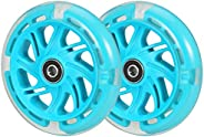 Kutrick 120mm LED Light Up Scooter Wheels 120mm Replacement Pair with Bearing for All Mini Kick Scooter with 1