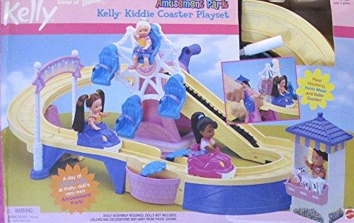 Barbie Kelly Amusement Park Kiddie Coaster Playset W Roller Coaster   Ferris Wheel Rides   More   2001