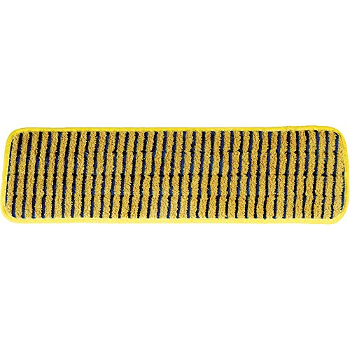 Rubbermaid Commercial Products HYGEN Microfiber Super Scrubber Damp Mop Pad, 18-inch, Yellow (FGQ81000YL00)