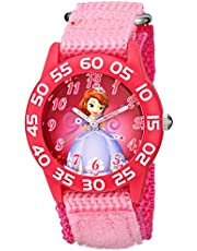 Disney Kids' W001686 Sofia the First Time Teacher Watch with Pink Nylon Band