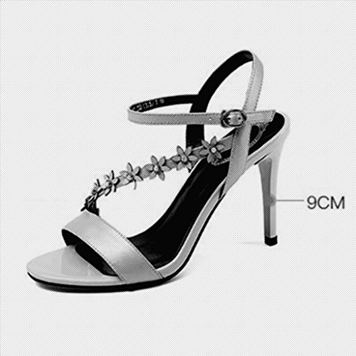 Colore alti estate Belle Scarpe Rosa CN36 sandali UK4 col Bianca sandali con tacchi MUMA rosa dimensioni femminile bianco tacco sexy EU36 6qfq0