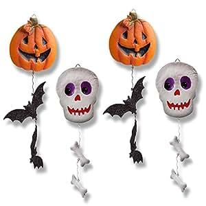 Metal Halloween Decorations, Set of 4; Halloween Hanging Decorations.