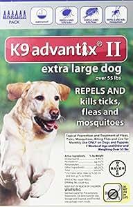 K9 Advantix II, Extra Large Dogs, Over 55-Pound, 6-Month