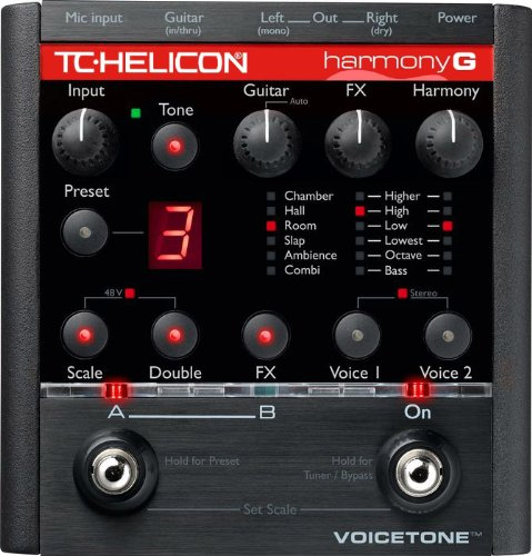 - TC-Helicon HarmonyControl Guitar, Automatic Vocal Harmony Generation for VoiceLive or Other MIDI Equipped Harmony Device