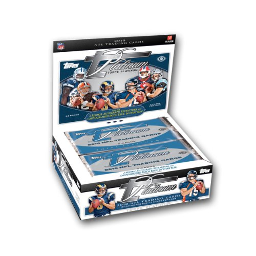 Topps Autograph Auto (2010 Topps Platinum Football Cards HOBBY Sealed Hobby Box (3 Autographs in EVERY Box including 1 Patch Auto))