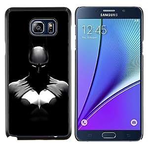 EJOOY---Cubierta de la caja de protección para la piel dura ** Samsung Galaxy Note 5 5th N9200 ** --OSCURO BAT SUPERHERO