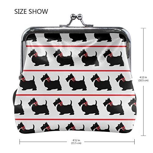 MXPINK Monedero de lona con diseño de perros escoceses ...