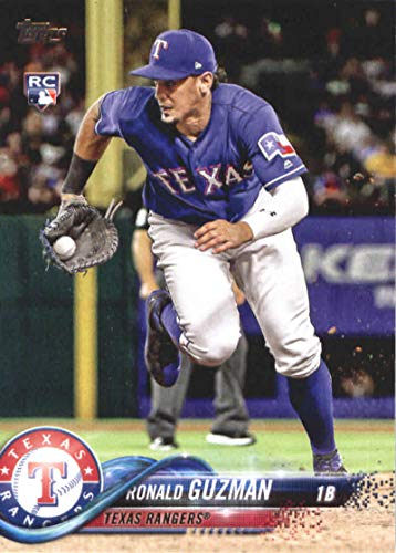 Cards Baseball Topps Rangers Texas (2018 Topps Update #US105 Ronald Guzman RC Rookie Texas Rangers MLB Baseball Trading Card)