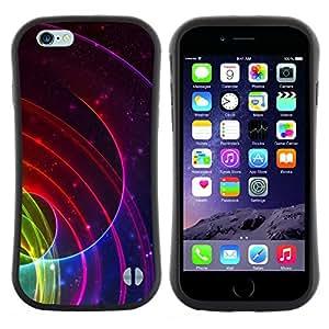 "Hypernova Slim Fit Dual Barniz Protector Caso Case Funda Para Apple (4.7 inches!!!) iPhone 6 / 6S (4.7 INCH) [Líneas Ripple Resumen Blood Red""]"