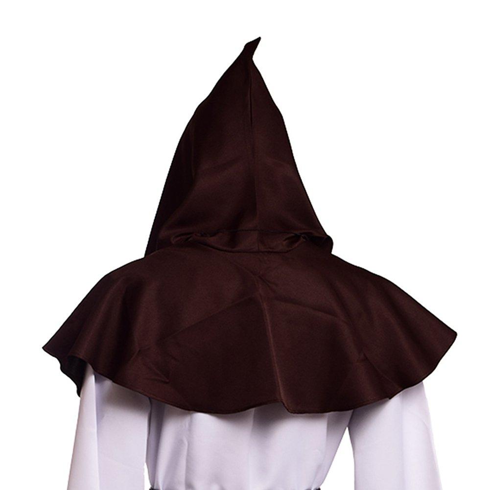 Men's Medieval Pagan Brown Shoulder Cowl Hood - DeluxeAdultCostumes.com