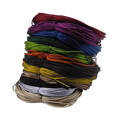 Inspirelle 12-Color 1.2mm Satin Nylon Trim Cord Rattail Silk Cord Chinese Knot Thread for Jewelry Making (20 Yards Each Color, Dark Colors)