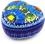 5 Oz. Polish Pottery Stoneware Heart Shaped Jar