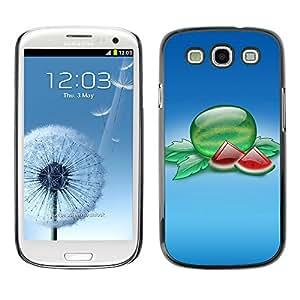 Paccase / SLIM PC / Aliminium Casa Carcasa Funda Case Cover - Fruit Macro Watermelon Slices - Samsung Galaxy S3 I9300