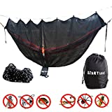 Hammock Bug Net 11 Feet Long Mosquito Net for 360° Protection Keep Out Noseeums Includes Ridge Line Black Compatible with All Hammock Brands