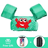 AmazeFan Kids Swim Life Jacket Vest for Swimming Pool, Swim Aid Floats with Waterproof Phone Pouch and Storage Bag, Suitable for 30-50 lbs Infant/Baby/Toddler