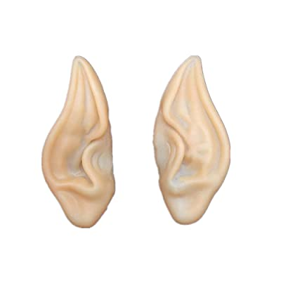 Alician Halloween Fairy Ears Cos Props False Ears Latex Vinyl Fairy Ears: Home & Kitchen