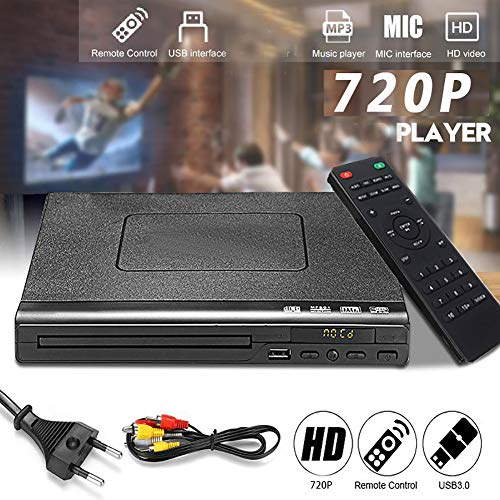 Bsopem DVD Player, Compact Player with HDMI Cable for TV, Mini DVD Players with Remote Control, Compatible for Playing…