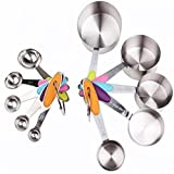 10 Pcs/set Measuring Cups and Spoons Stainless Steel Stackable Set Professional Cookware to Measure Food coffee tea