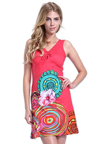 Coton Du Monde-vestido de ROMA, color rosa Rosa