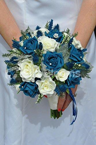 Ramo de novia bouque azul y blancohttps://amzn.to/2P17SCQ