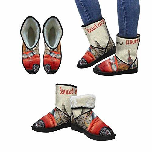 Snow Stivali Da Donna Di Interestprint Viaggio Vintage Design Unico Comfort Invernale Stivali Multi 1