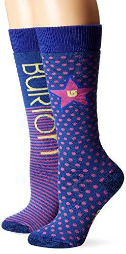 Burton Girls Socks - Burton Girls Weekender Socks (2 Pack), Periwinks, Small/Medium