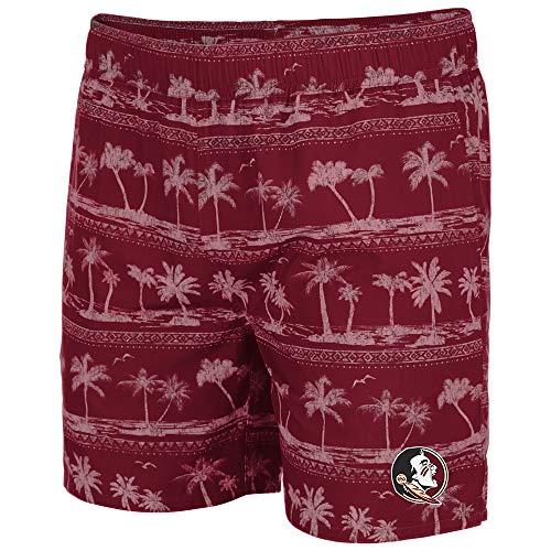 Florida State Mens Shorts - Colosseum Mens Florida State Seminoles Maui Swim Shorts - XL