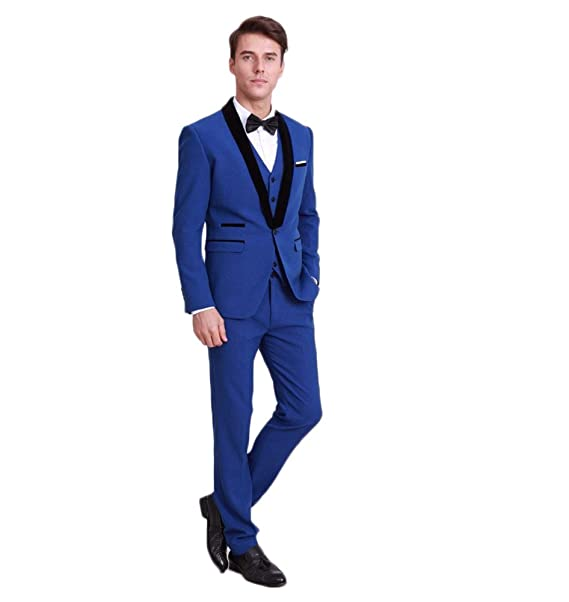 Amazon.com: AK Beauty de los hombres 3 Piece Suit Business ...