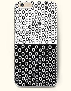 Black And White Circulars - Geometric Beauty - Phone Cover for Apple iPhone 6 Plus ( 5.5 inches ) - SevenArc Authentic...