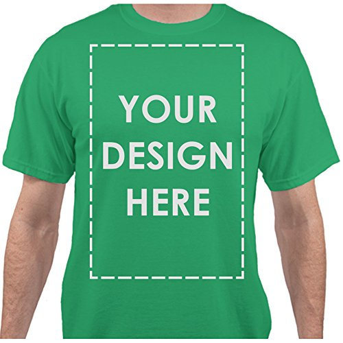 - Add Your Own Custom Text Name Personalized Message Image Clover Green T-Shirt - XLarge