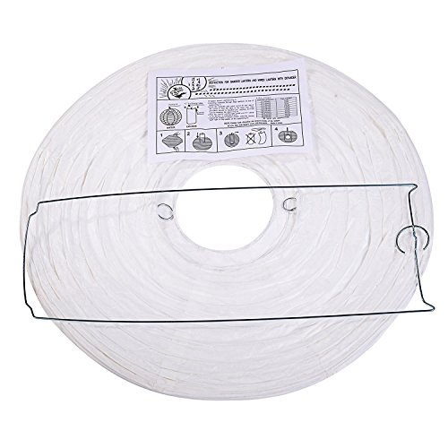 LIHAO 12 Inch White Round Paper Lanterns (10 Pack) by LIHAO (Image #3)