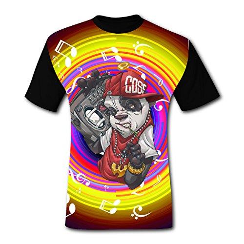 Kung Fu Panda Costume Pattern (Most Popular Rock Panda Mens Tee T-Shirt Short Sleeve Costume 3XL)