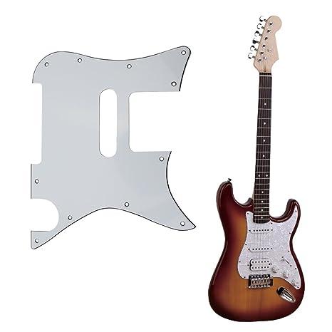 Guitarra eléctrica golpeador, awakingdemi 1pieza protectora frontal Golpeador de 3 capas placa de Scratch para