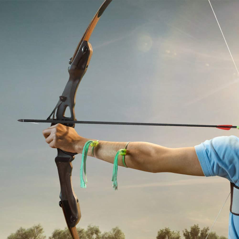 Zer one Flechas de Pesca de Fibra de Vidrio 5PCS 79.5cm Longitud Flecha de Pesca de Caza para Arco recurvo Tirachinas de Arco Compuesto
