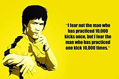 I fear not the man….Bruce Lee(Quotes 48) Get Motivated Poster
