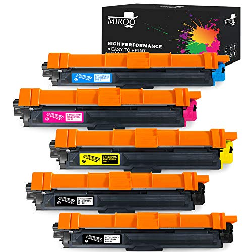 MIROO 5-Pack Compatible Toner Cartridge Replacement Brother TN221 TN-221 TN225 TN-225 High Yield, Use on Brother HL-3140CW HL-3170CDW HL-3180CDW MFC-9130CW MFC-9330CDW MFC-9340CDW Laser ()