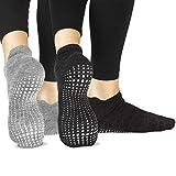 LA Active Grip Socks - 2 Pairs - Yoga Pilates Barre Ballet Non